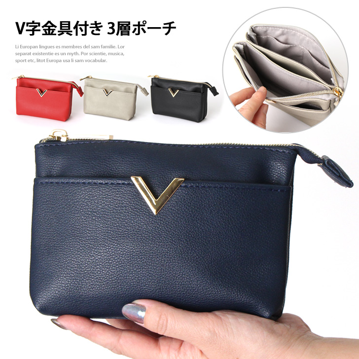 The stylish small shark student who shows cute three levels of porch Lady's accessory case makeup porch cosmetics porch make porch bag in bag accessories ...