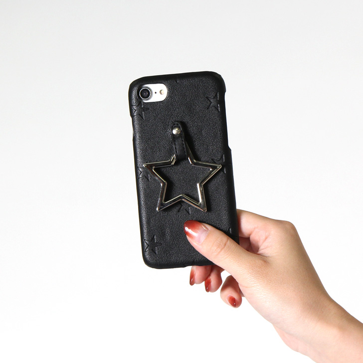 The pretty fashion star fake leather synthetic leather that a ring star  type push iPhone case Lady's eyephone case eyephone smartphone cover