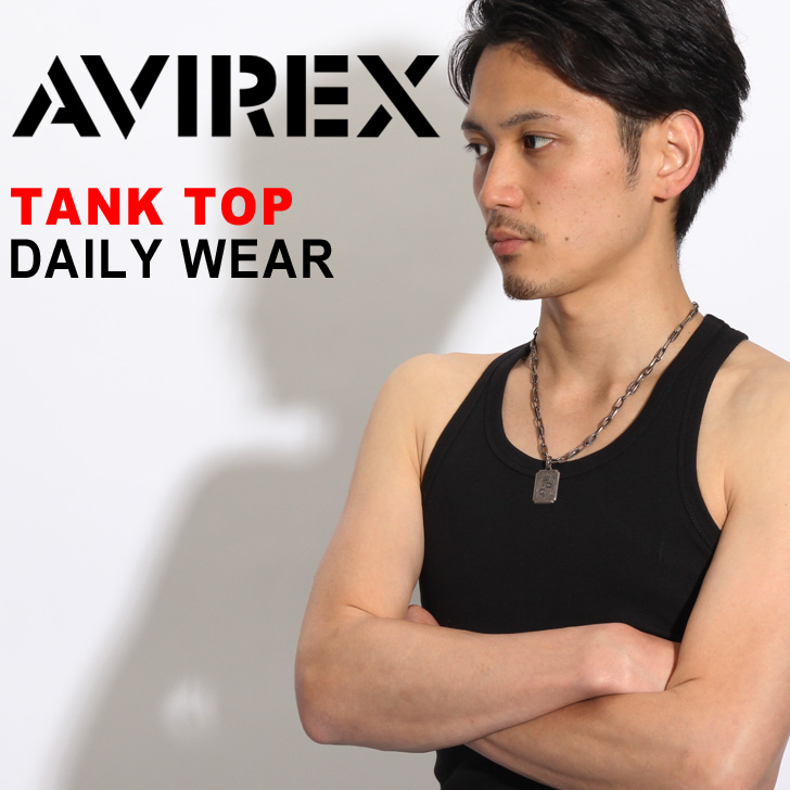 AVIREX 罐頂 avirex avirex 每日罐頂黑色白色純色