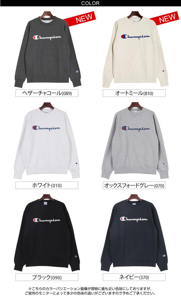 Champion Champion logo print crewneck sweet t-shirt C3-H004 mens tops trainers sweat Champion Basic Series women's Sweatshirts