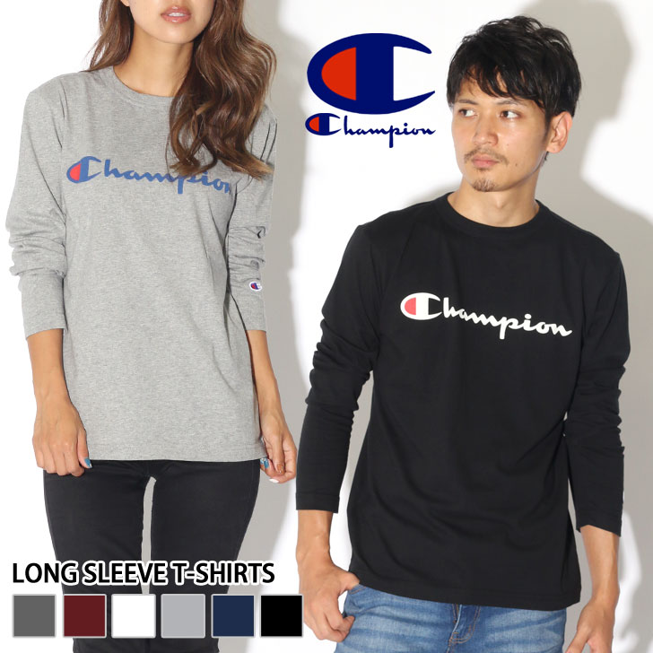 9194e1f9454c Champion Champion Basic Series long sleeve t-shirt C 3-J426 men s Long  Sleeve Tops Ron T cut  amp  sew inner neck neck simple logo ladies