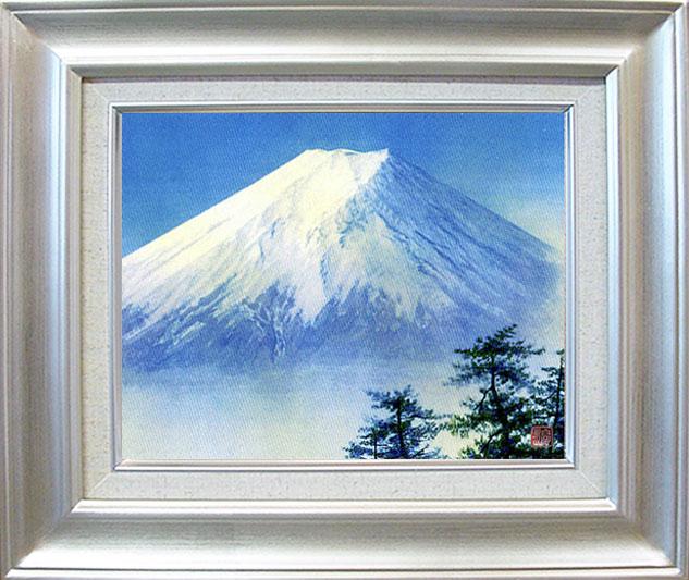 「白富士」ジクレー版画神崎 淳画伯