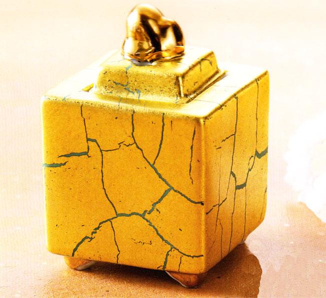 九谷焼 「3号豆香炉・金箔彩」お祝い・海外への贈り物・ギフト