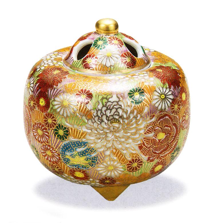 九谷焼 「3.2号香炉・花詰」お祝い・海外への贈り物・ギフト