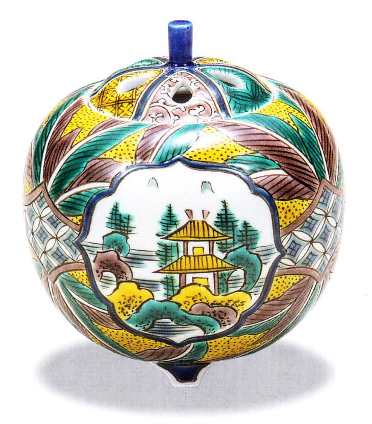 사기 그릇 「4호 향로・요시다 야야마수」강천타카유키 축하・해외에의 선물・기프트