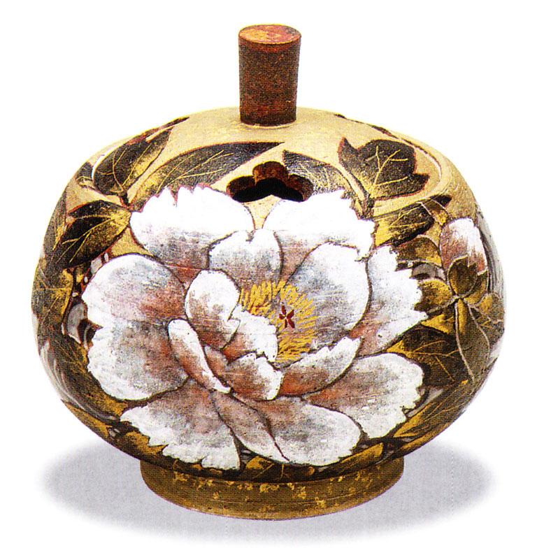 九谷焼 「3.5号香炉・牡丹」谷敷正人お祝い・海外への贈り物・ギフト