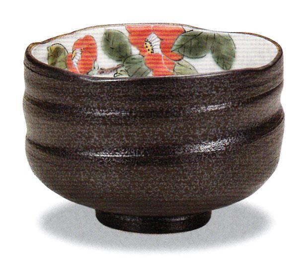 茶碗 (訳ありセール 格安) お中元 茶道具 抹茶碗 抹茶椀 九谷焼 椿