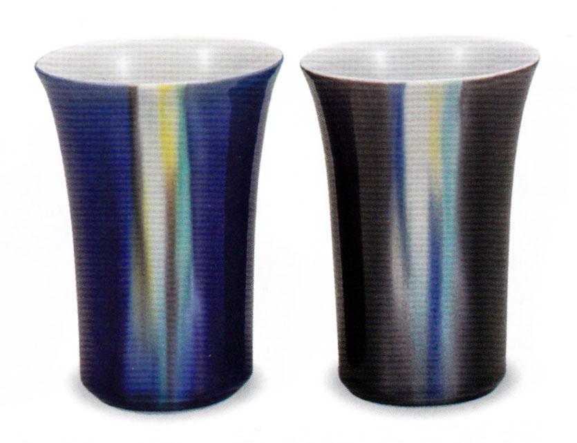 九谷焼 ペアフリーカップ・釉彩 博蜂窯