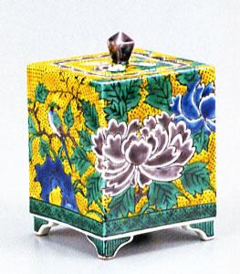九谷焼 「4号香炉・吉田屋花鳥」お祝い・海外への贈り物・ギフト