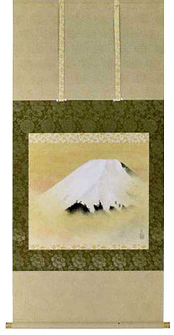 掛け軸 富士 岸野圭作作 モダン おしゃれ インテリア 掛軸 床の間