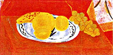 ピエール・ボンコンパン「デルフト皿の果物」