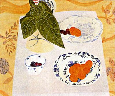 ピエール・ボンコンパン「テーブルの上の観葉植物」