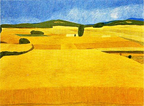 ピエール・ボンコンパン「麦の一年」