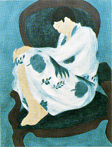 ピエール・ボンコンパン「ブルーの女」