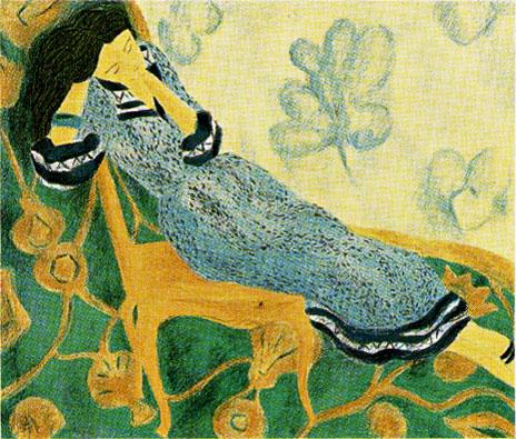 ピエール・ボンコンパン「水玉のドレス」