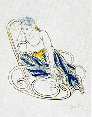 ピエール・ボンコンパン「ゆり椅子」