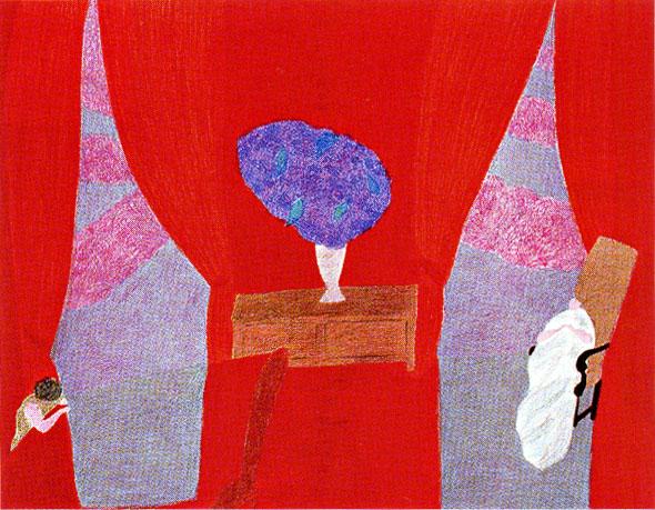ピエール・ボンコンパン「赤いサロン」