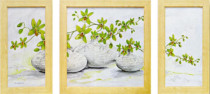ケイ コストルニー 「ブリミング グリーン バルーンズ」  アート・贈り物としても喜ばれます