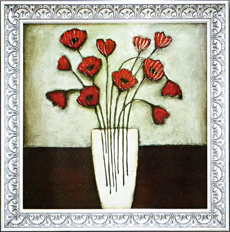 イヴ 「ホワイトヒート」 花の絵画/静物画