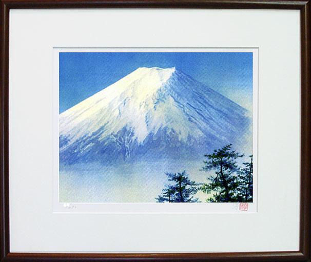 「白富士」ジクレー版画 神崎淳 画伯