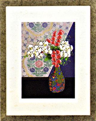 花の版画 ジクレー版画 胡蝶蘭 ◆高品質 金武和馬 絵画 翠輝 本号 新品