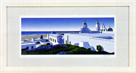 「海の見える白い建物」星野光輝ジークレー版画