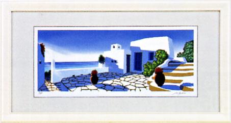 「エーゲ海の光」星野光輝ジークレー版画