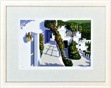「アンダルシアの坂道」星野光輝ジークレー版画
