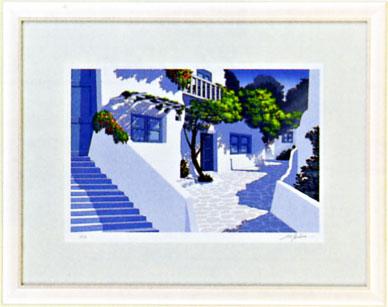 「石畳の路地」星野光輝ジークレー版画