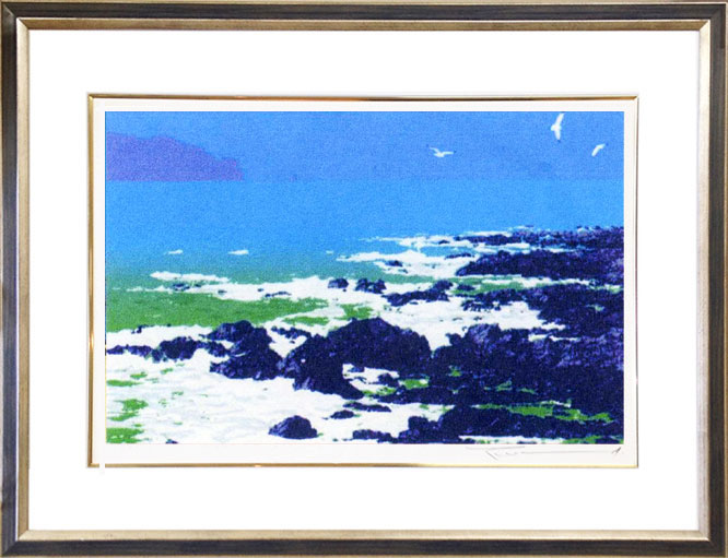 日本最大の 絵画 「碧い海6」 本間武男画伯 【送料無料】, DUCT SHOP 40949ce1