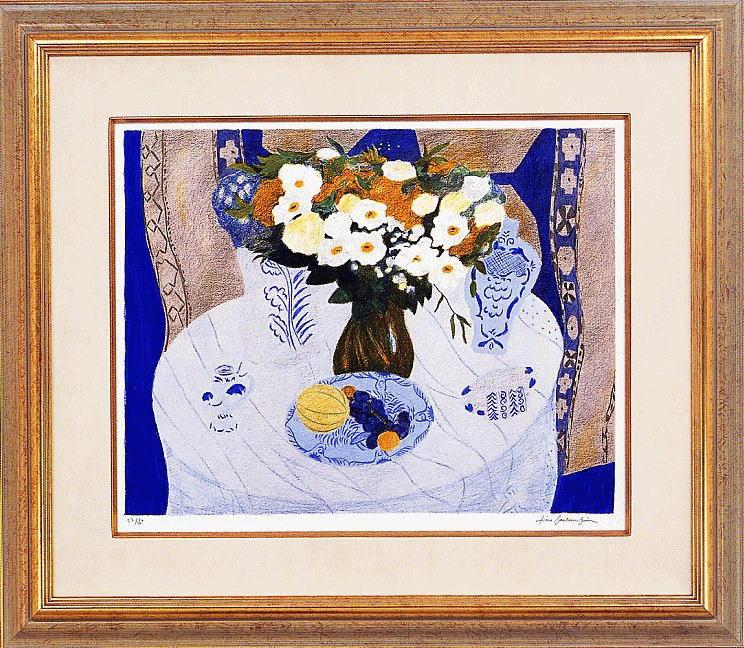 ピエールボンコンパン リトグラフ「記念日の食卓」