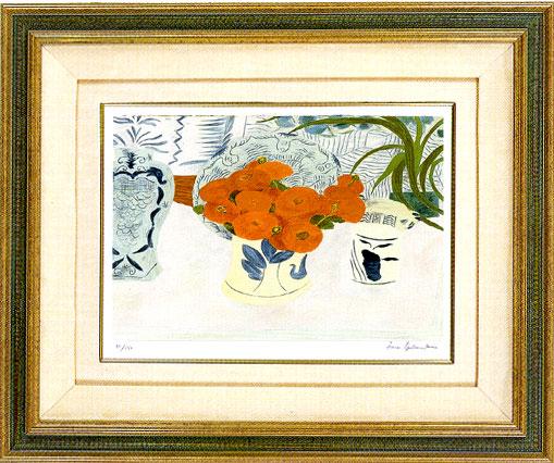 ピエール・ボンコンパン「デルフトの花瓶ときんせんかのブーケ」