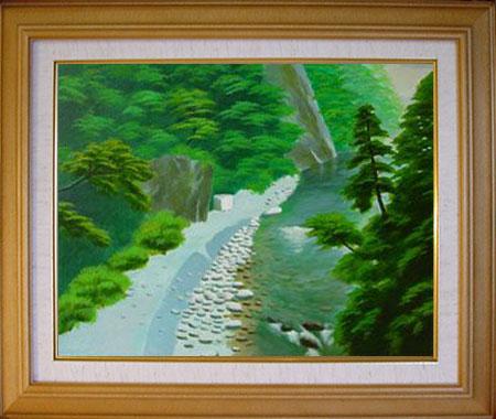 「欅平」大林 正邦 作(油絵)