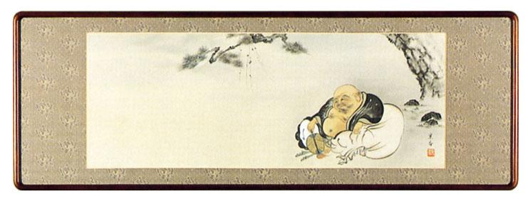 額装「月に布袋」中野京香作
