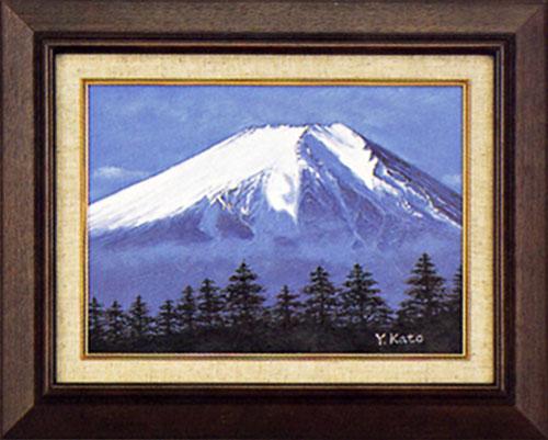 絵画 インテリア「白富士」加藤芳雄 作 額入り