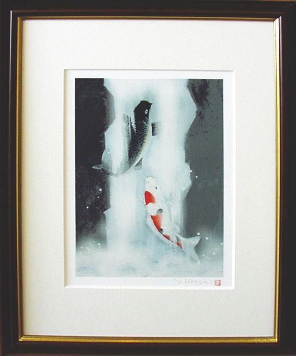 「鯉の滝のぼり」 吉岡 浩太郎ジクレ・スクリーン
