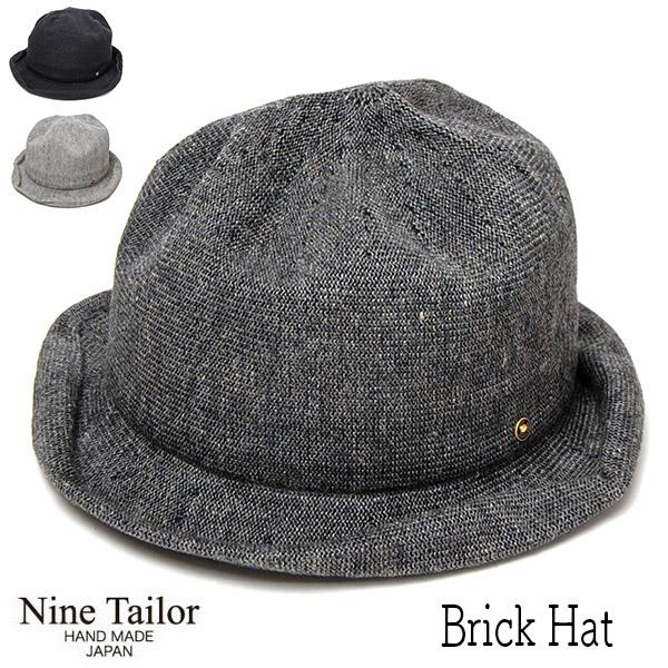 """帽子 """"NINE TAILOR(ナインテイラー)"""" リネンサーモハット [Brick Hat] 【あす楽対応】 【送料無料】【コンビニ受取対応商品】"""
