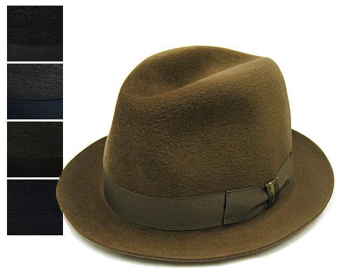 """帽子 イタリア製""""Borsalino(ボルサリーノ)""""ファーフエルト ソフト帽<グアナコ>[114549][ハット] 【あす楽対応】[大きいサイズの帽子アリ]【コンビニ受取対応商品】"""
