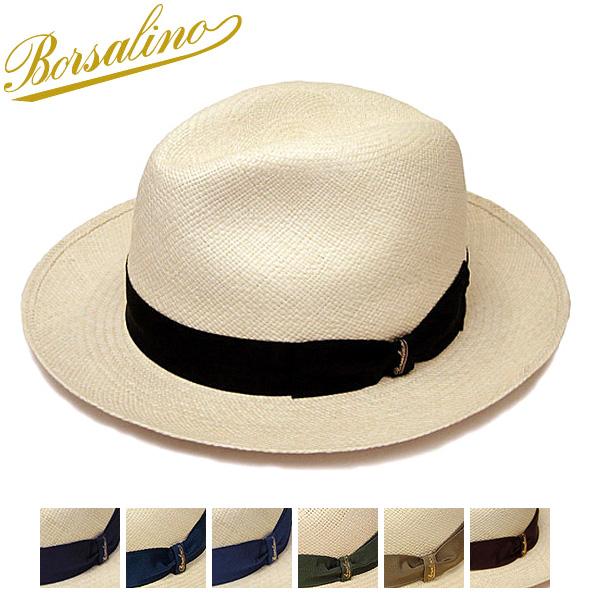 """夏のオシャレにベーシックなパナマはいかが? 帽子 ブランド買うならブランドオフ イタリア製""""Borsalino ボルサリーノ """" パナマ中折れ帽 140228 大きいサイズの帽子アリ 春夏 海外 メンズ ハット コンビニ受取対応商品 小さいサイズ対応"""