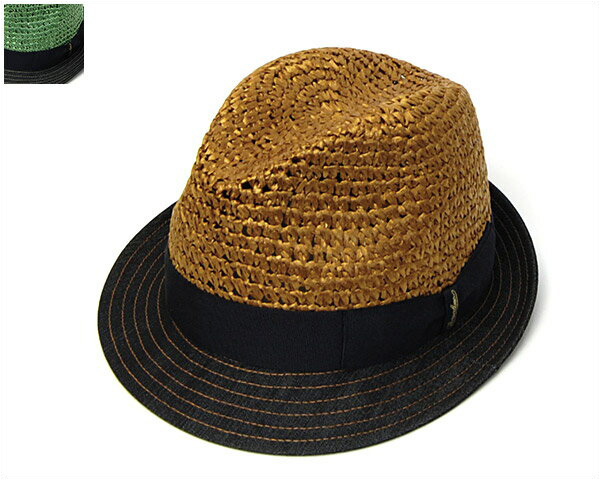 """帽子 イタリア製""""Borsalino(ボルサリーノ)""""メッシュxデニム中折れ帽[ハット] 【あす楽対応】[大きいサイズの帽子アリ]【コンビニ受取対応商品】"""