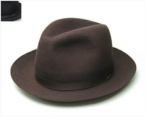 """帽子 イタリア製""""Borsalino(ボルサリーノ)""""ファーフエルトソフト帽(イカロロール)[ハット] 【あす楽対応】"""