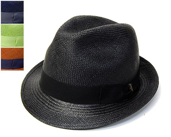 """帽子 イタリア製""""Borsalino(ボルサリーノ)""""カラーパナマ中折れ帽[ハット] 【あす楽対応】[大きいサイズの帽子アリ]【コンビニ受取対応商品】"""