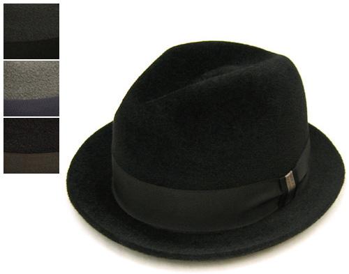 """帽子 """"BUNJIROW(文二郎)""""ファーフエルト中折れ帽<ファーブルースアルバート>[ハット] 【あす楽対応】[大きいサイズの帽子アリ]【コンビニ受取対応商品】"""