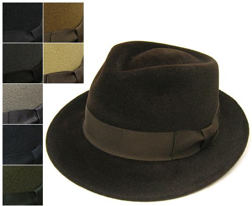 """帽子 """"BUNJIROW(文二郎)""""ファーフエルト中折れ帽<ファーロイヤル>[ハット] 【あす楽対応】[大きいサイズの帽子アリ][小さいサイズの帽子あり]【コンビニ受取対応商品】"""