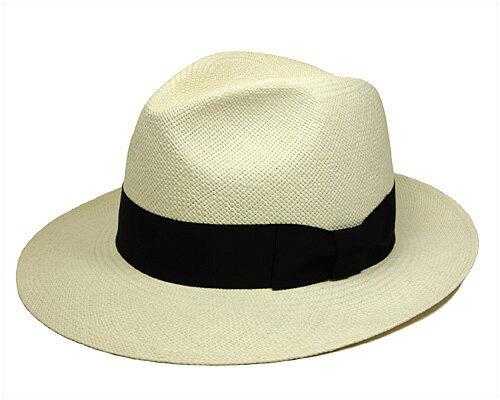 """帽子 """"BUNJIROW(文二郎)""""パナマ中折れ帽<パナマツマミワイド>[ハット] 【あす楽対応】[大きいサイズの帽子アリ][小さいサイズの帽子あり]【コンビニ受取対応商品】"""