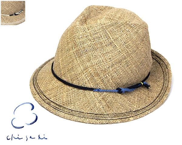 """帽子 【アウトレットS】 """"chisaki(チサキ)""""ストロー中折れ帽<lattie>[ハット] 【あす楽対応】 【コンビニ受取対応商品】"""