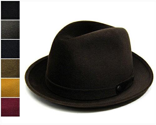 """帽子 イタリア""""GUERRA1855(グエラ)""""ファーフエルト中折れ帽<カシミア>[ハット] [大きいサイズの帽子アリ]【あす楽対応】【コンビニ受取対応商品】"""