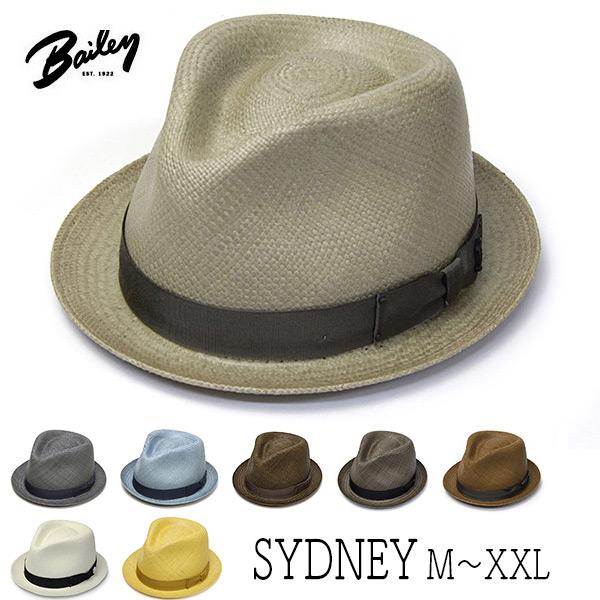 """帽子 アメリカ""""Bailey(ベイリー)"""" パナマ中折れ帽 SYDNEY ストローハット メンズ 春夏 [大きいサイズの帽子アリ]【コンビニ受取対応商品】 アウトレットSS20"""