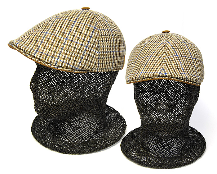 b8747c288a5 Kawabuchi Hats Ltd.  ☆ Italy  quot MARONE (Malone) quot  check six ...