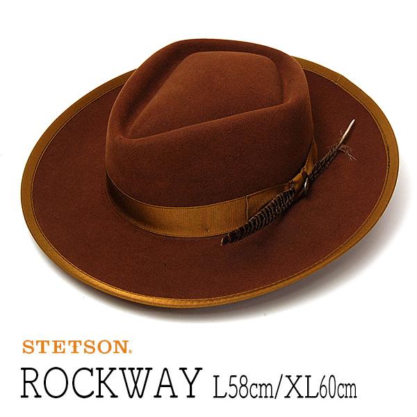 """帽子 アメリカ""""STETSON(ステットソン)""""ウールフエルトポークパイハット [ROCKWAY] 【あす楽対応】【送料無料】"""